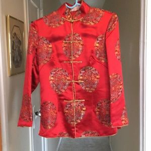 Chinese style silk coat